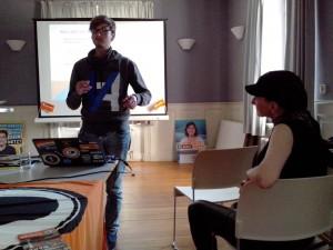 Stevan Cirkovic in Diskussion mit dem Publikum
